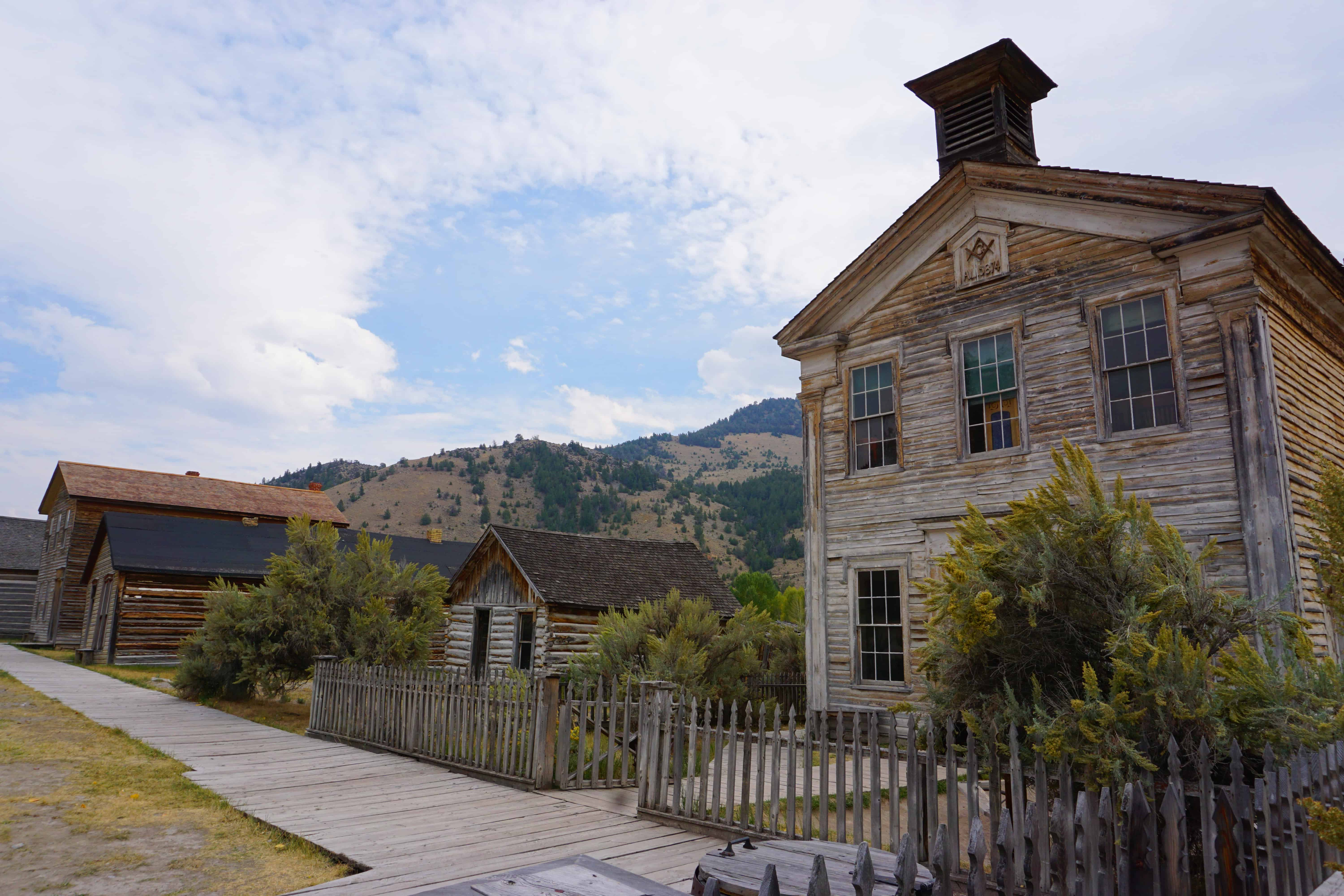 The mining ghost town of bannack state park in montana - Towne place at garden state park ...