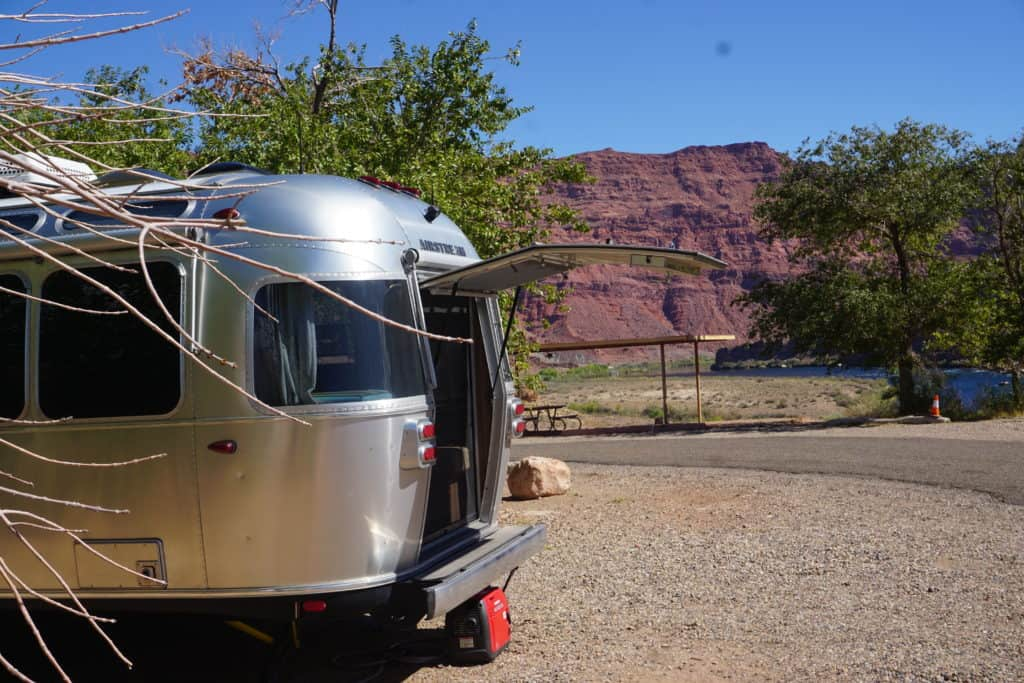 Camping by the Colorado River in Lees Ferry Campground in