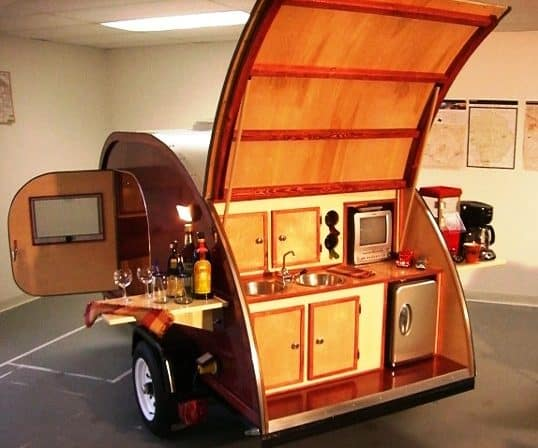 7 Gorgeous Hand Crafted Wooden Travel Trailers Rv Hive