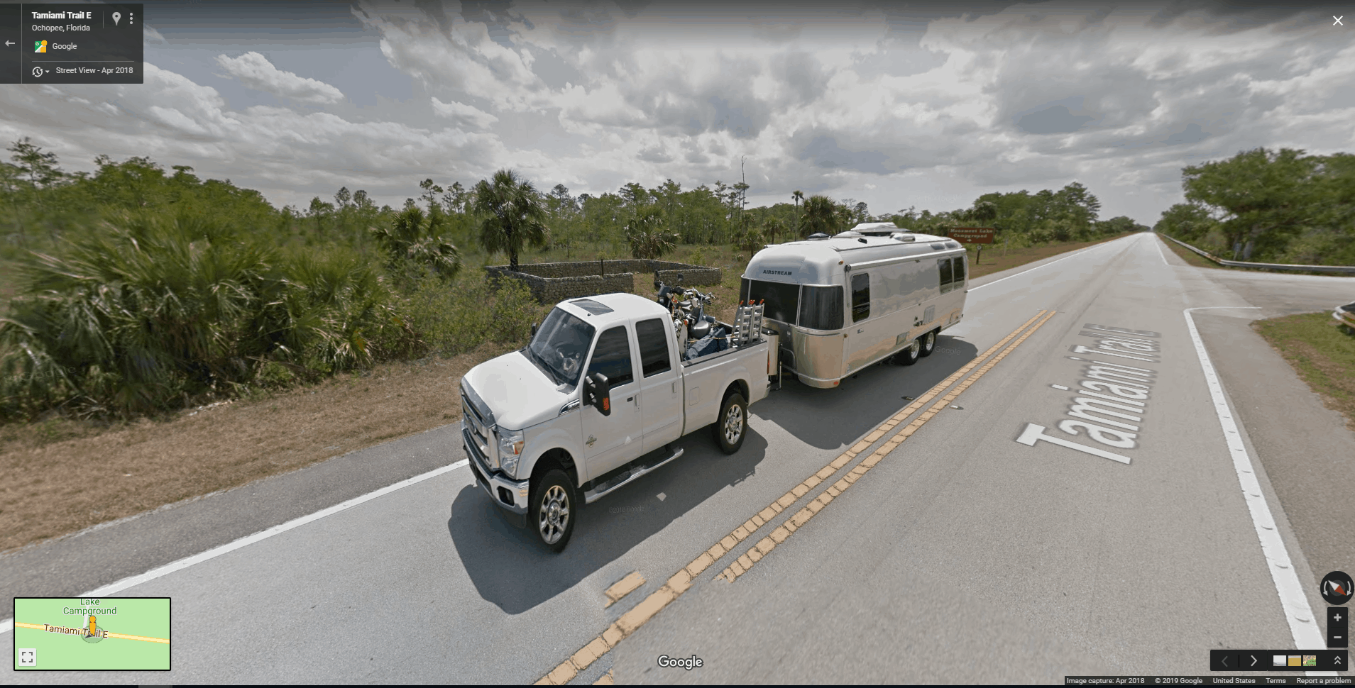 Check Out Our Airstream on Google Maps Street View - RV Hive