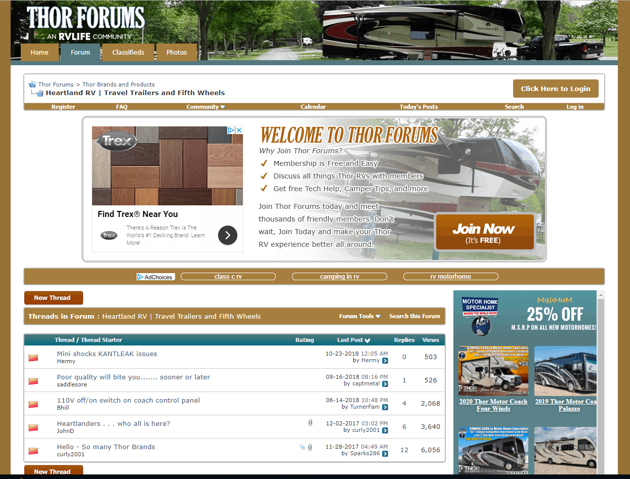 RV Owners Group Discussion Forums by RV Brand / Make - RV Hive
