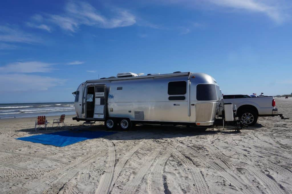 RV Camping on the Beach at Port Aransas, Texas for ...